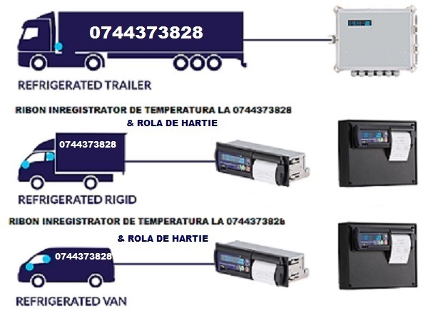 Ribon tus si role hartie Datacold Carrier, Thermo King, Termograf,  Transcan, Tkdl, Touchprint, Comet, Esco, Vlt, etc.